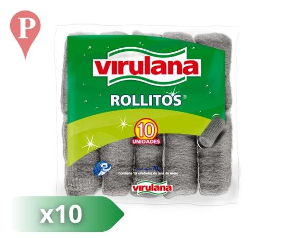 esponja lana acero virulana 10