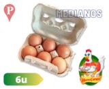 Huevos Castaños medianos Huevo Campo