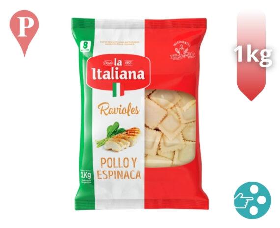 ravioles la italiana 500g pollo y espinaca