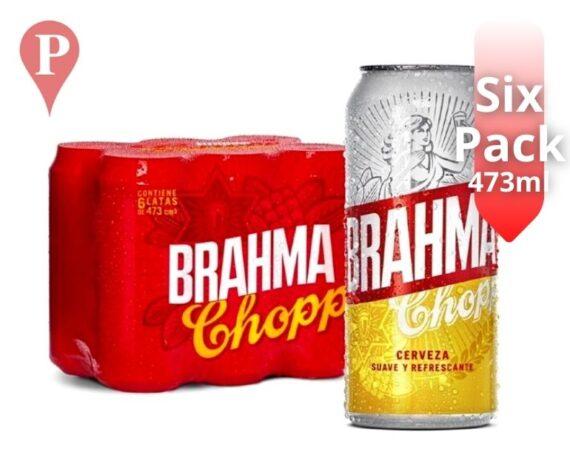 Cerveza Brahma 473ml x6